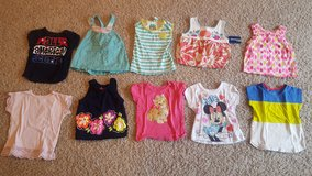 Lot of 12-18 month girl shirts, 1 NEW with tags in Bartlett, Illinois