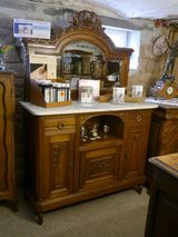 nice dresser with carvings,marble top and mirror 1880/1890 in Ramstein, Germany