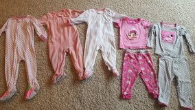 Lot of 12-18 month pajamas in Bartlett, Illinois