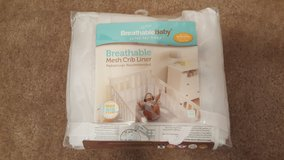Breathable mesh crib liner in Vista, California