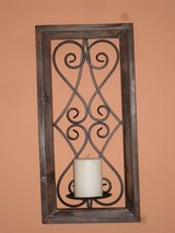 wood/iron wall candleholder in Glendale Heights, Illinois