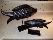 Metal Fish on Stands in Kankakee, Illinois