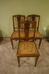 Set of 3 Vintage French Chairs in Great Lakes, Illinois