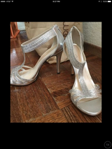 Silver with stones heels shoes in Travis AFB, California