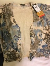 GLITTERY SWEATER  SIZE: Medium NWT BUTTON DOWNED SCOOP NECK ( JAPAN sizing: LG.) METALLIC LOOK in Okinawa, Japan