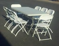 Tables and chairs in Fort Polk, Louisiana