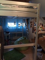 IKEA white loft bed + mattress in Ramstein, Germany