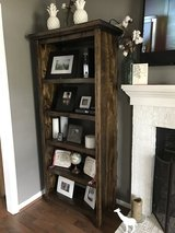 Wood shelf console entertainment stand bookcase in Camp Lejeune, North Carolina