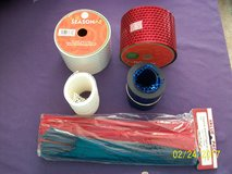 small bag of craft items for sale for $5 (mostly mesh craft ribbon) in Goldsboro, North Carolina