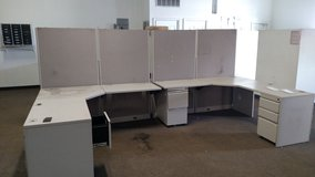Modular Office Desk Set - 4 L-shaped Units - USED - MUST GO!!! in Aurora, Illinois