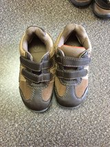 Toddler boys size 7 brown shoes in Naperville, Illinois