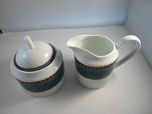 NEW Mikasa La Scala Sugar Bowl W/Lid & Creamer Set M5111 in Camp Lejeune, North Carolina