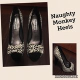 Women's Black & White Designer Peep-toe Heels in Naperville, Illinois