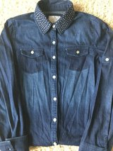 Justice Denim Shirt w/Rhinestone Collar-Size 14 in Plainfield, Illinois