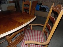 Large Heavy Trestle Table and 4 Chairs in Conroe, Texas