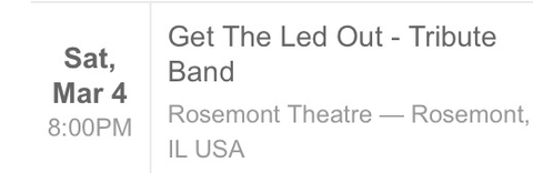 Get the Led Out Led Zeppelin tribute band in Naperville, Illinois
