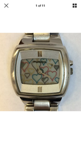 1990s Fossil watch changing hearts new battery in Beaufort, South Carolina