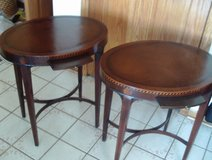Pair of 1930's Sheraton Marquetry End Tables in Tinley Park, Illinois