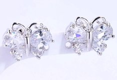 New - Butterfly White Topaz Stud Earrings in Alamogordo, New Mexico