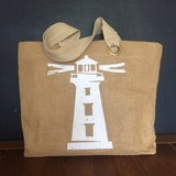 Large Jute Beach Tote Bag from Target in Kingwood, Texas