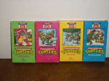 4 VHS Teenage Mutant Ninja Turtles Movies in Clarksville, Tennessee