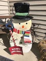 Cute Metal Snowman in Aurora, Illinois