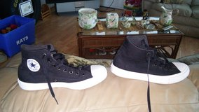 chuck taylor converse size 10 wore once. just to big for me. in Camp Lejeune, North Carolina