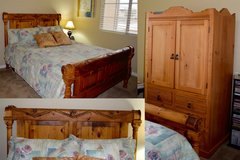 Southwest style Queen Bed and matching TV Bedroom cabinet in Luke AFB, Arizona