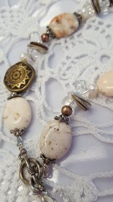 """""""Vintage Natural Stones, Fresh Water Pearls, Shell  Necklace"""" in Oswego, Illinois"""