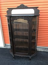 1800's Antique Qtr Oak China Cabinet in Cherry Point, North Carolina