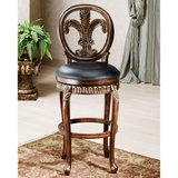 Fleur De Lis Wooden Counter Stool by Hillsdale in Oswego, Illinois