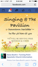 Singing and free food in Fort Polk, Louisiana