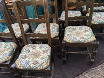 8 antique wood chairs french cottage Style in Ramstein, Germany