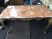 Iron coffee table with marple top in Ramstein, Germany