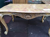 nice french wood table with marple top in Ramstein, Germany