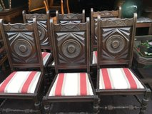 6 solid antique wood chairs from France in Ramstein, Germany