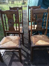 4 nice antique wood chairs from France in Ramstein, Germany