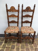 2 super solid antique wood chairs from France in Ramstein, Germany