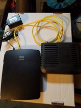 Cisco Linksys E1200 Modem with V2 Wireless-N 300 Mbps Router in Joliet, Illinois