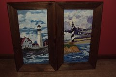 2 light house paintings  great for beach house in Camp Lejeune, North Carolina