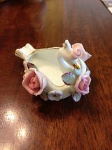 Lefton China Swan Pink Roses Trinket Ring Dish Made in Japan in Warner Robins, Georgia