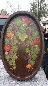 Hand painted Wine barrel in Ramstein, Germany