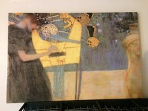 'Music' (1895) print on canvas by Gustav Klimt in Lakenheath, UK