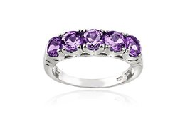 ***REDUCED****BRAND NEW***1.25 CTTW Amethyst Half-Eternity Ring in Sterling Silver****SZ 6 in Cleveland, Texas