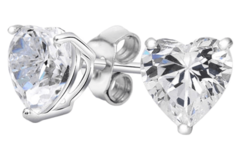 ***REDUCED***BRAND NEW***Heart-Cut Studs Made with Swarovski Elements***3 1/2 CTTW in Cleveland, Texas