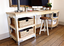 Wood desk table console workbench in Charleston, South Carolina
