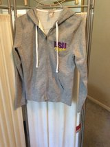 ***REDUCED***BRAND NEW***LSU Zip Up Grey Hoodie Jacket***SZ Medium in Cleveland, Texas