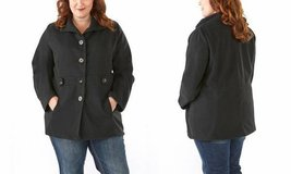 ***REDUCED***BRAND NEW***Ladies Plus-Size Single-Breasted Jacket/Coat***BLACK...2X in Kingwood, Texas