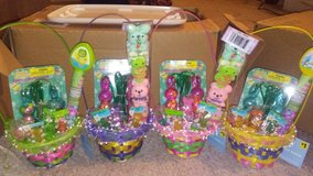 Easter Baskets...wrapped in cellophane with ribbon in Beaufort, South Carolina