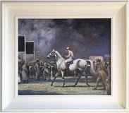 At The Races, Ascot (1963) by A.J.M. (Original Oil Painting) in Cambridge, UK